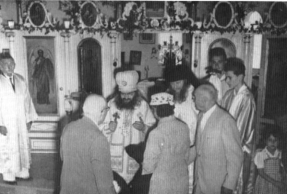 Tunis, 1955, with Hieromonk Mitrofan, at the consecration of the Church of the Resurrection