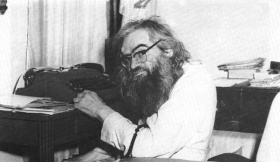 In his office at St. Tikhon's Orphanage, San Francisco, 1966