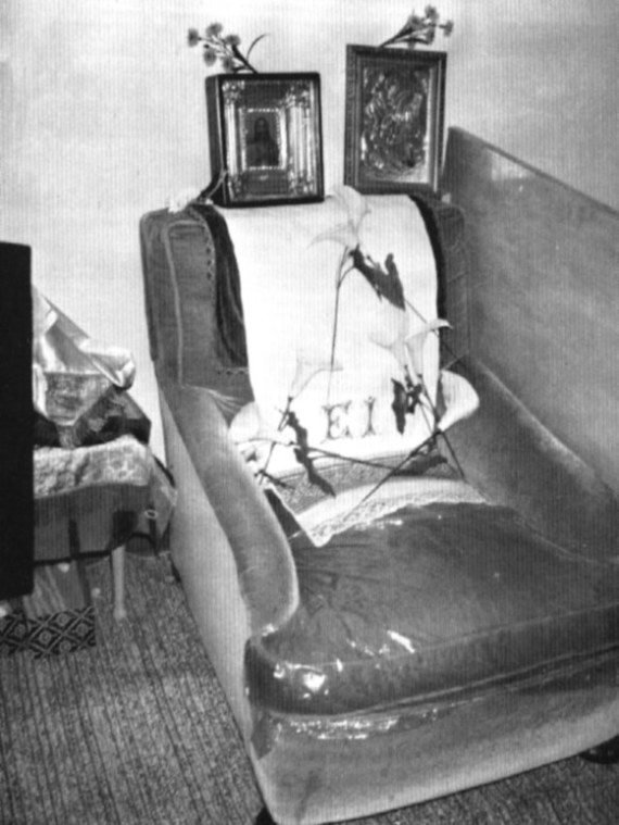 The chair in which Archbishop John died. St. Nicholas Parish House, Seattle, Washington