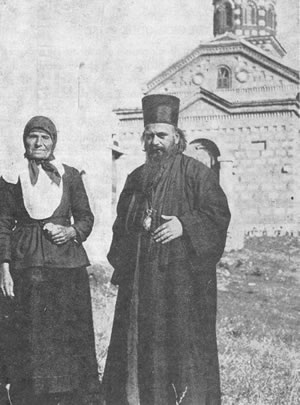 St. Nikolai Velimirovich together with his mother