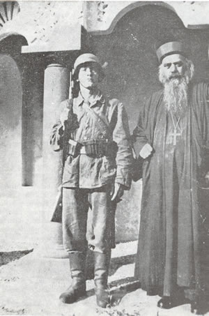 St. Nikolai Velimirovich when he was arrested with the german occupation of Yugoslavia, during the World War II
