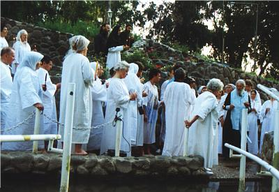 Pilgrims during the Blessing of Water (1)