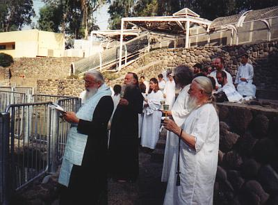 Pilgrims during the Blessing of Water (2)