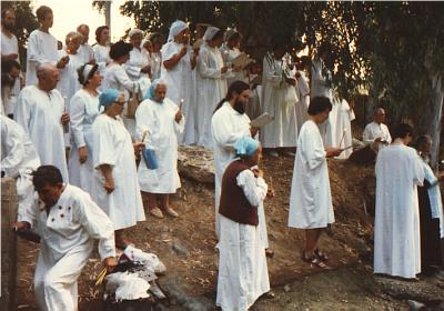 Pilgrims during the Blessing of Water (3)