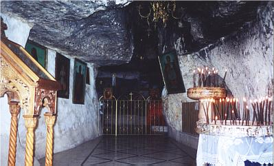 Cave where the Prophet Elias took refuge from Queen Isabella