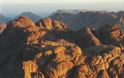 View from the top of Mount Sinai
