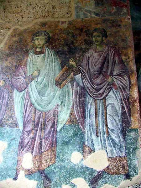 Ss. Cosma and Panteleimon in the southern wall, Sopocani Monastery, Serbia