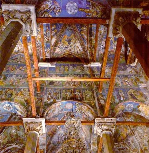 Narthex ceiling, Visoki Decani Monastery, Serbia, XIV Century