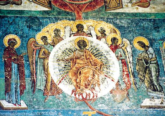 The Last Judgement (Deisis) - Voronet Monastery Fresco - Romania (6)