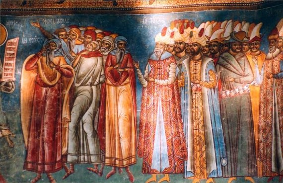 The Last Judgement (the turks) - Voronet Monastery Fresco - Romania (7)