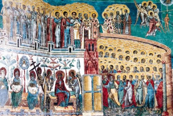 The Last Judgement - Voronet Monastery Fresco - Romania (2)