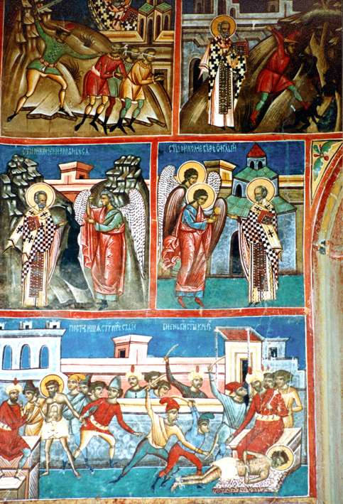 Stills from the life of St. John the New - Voronet Monastery Fresco - Romania (1)