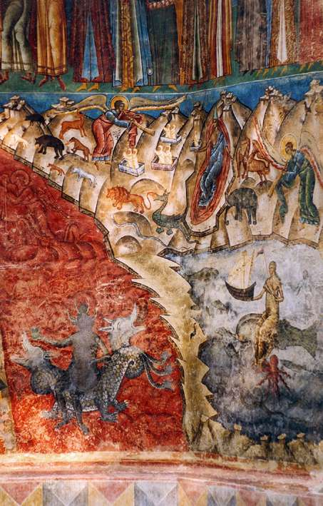 The Last Judgement - Voronet Monastery Fresco - Romania (3)