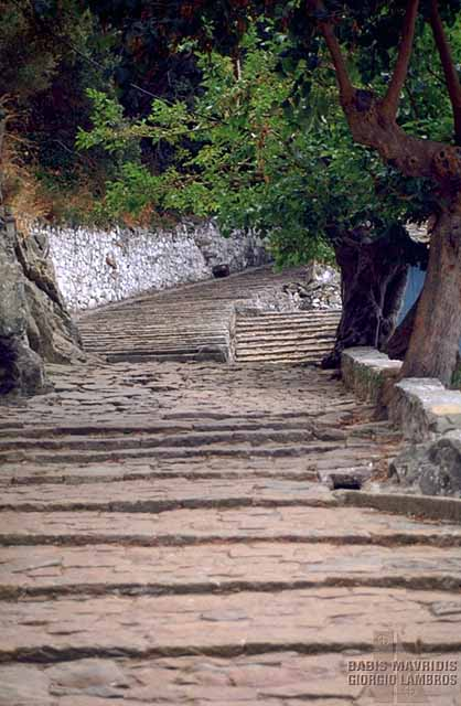This road leads to the monastery entrance