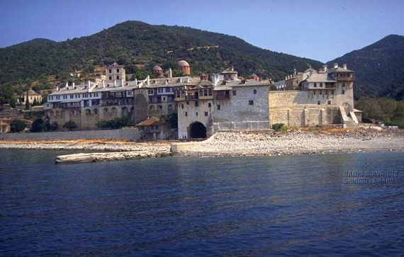 A western view of the monastery from the sea