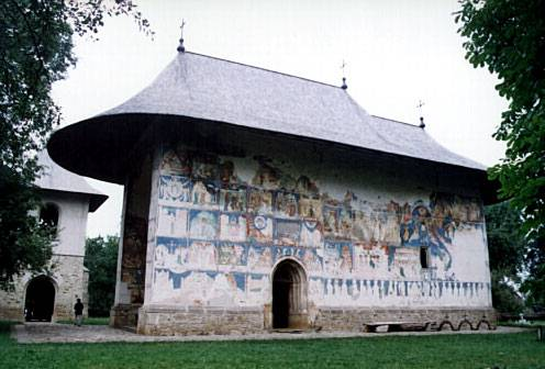 General view of the south side - Arbure Monastery, Romania