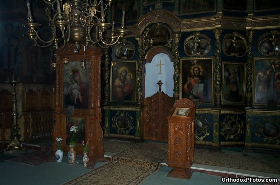 Inside the Church of the Cetatuia Monastery, Iasi, Romania (1)