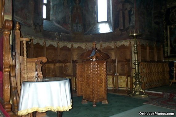 Inside the Church of the Cetatuia Monastery, Iasi, Romania (4)