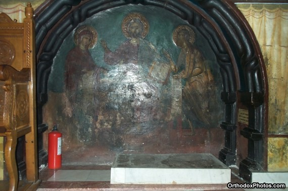 Inside the Church of the Cetatuia Monastery, Iasi, Romania (9)