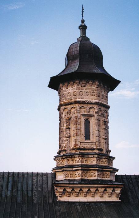 Detail of the spire - Dragomirna Monastery, Suceava, Romania