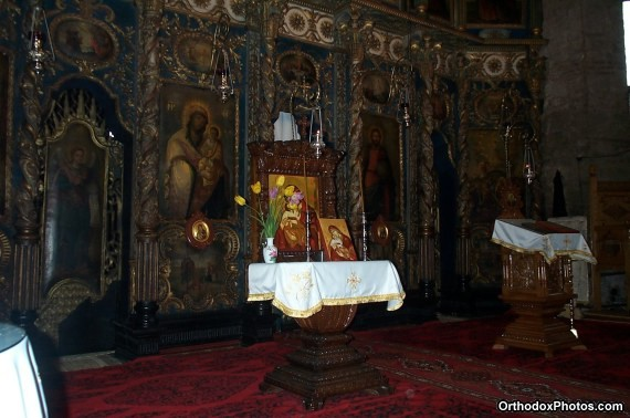 Inside the Church of the Galata Monastery, Iasi, Romania (1)
