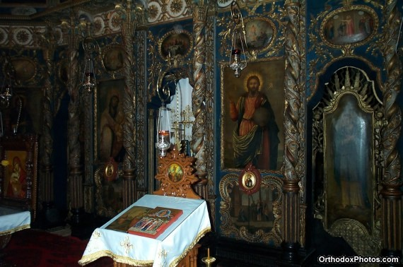 Inside the Church of the Galata Monastery, Iasi, Romania (2)
