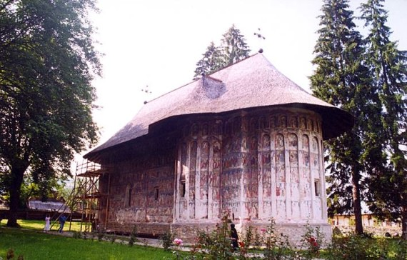 South-east view - Humor Monastery, Romania