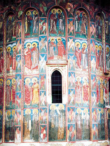 East wall view, detail - Moldovita Monastery, Romania (1)