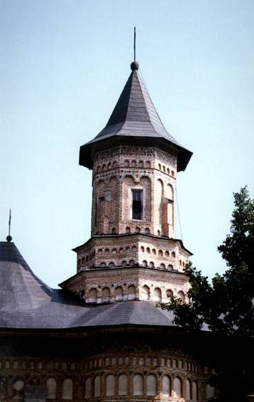 Detail of the spire - Neamt Monastery, Romania
