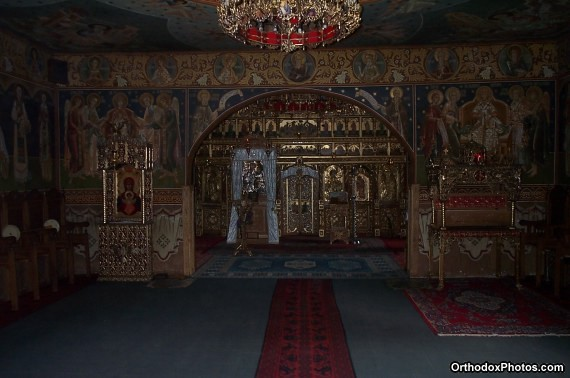 Inside the Church of the Petru Voda Monastery, Iasi, Romania (1)