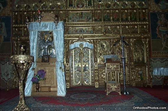 Inside the Church of the Petru Voda Monastery, Iasi, Romania (2)