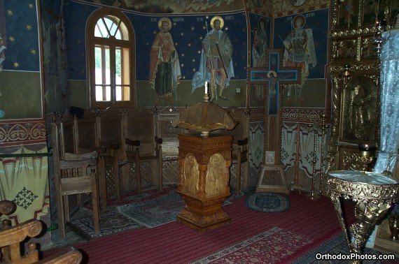 Inside the Church of the Petru Voda Monastery, Iasi, Romania (3)