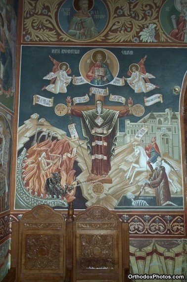 Inside the Church of the Petru Voda Monastery, Iasi, Romania (9)
