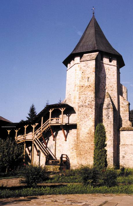 West tower - Putna Monastery, Romania