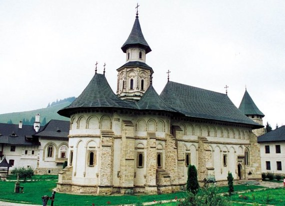 South view - Putna Monastery, Romania