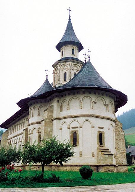 East view - Putna Monastery, Romania
