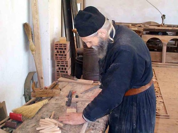 Monk Nikodim the carpenter, Visoki Decani Monastery, Serbia