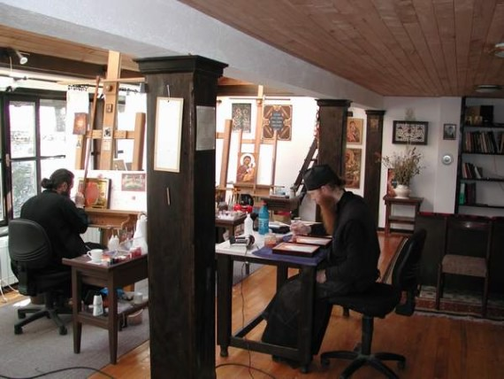 The Painters in the Icon Studio, Visoki Decani Monastery, Serbia