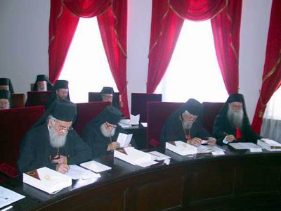 Sinod of Bishops of the SOC at work, May 2002