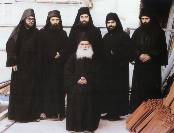 Abbot Ephraim together with his spiritual sons