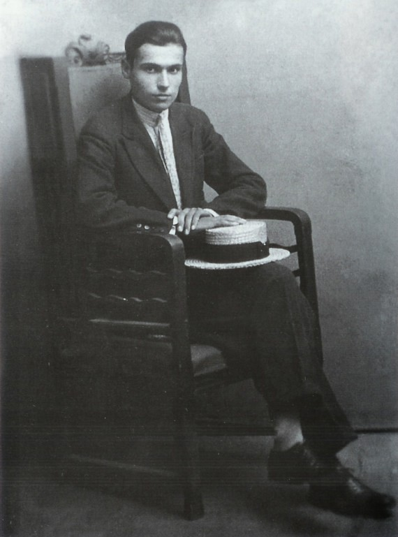 Young Evanghelos Papanikitas at age 18