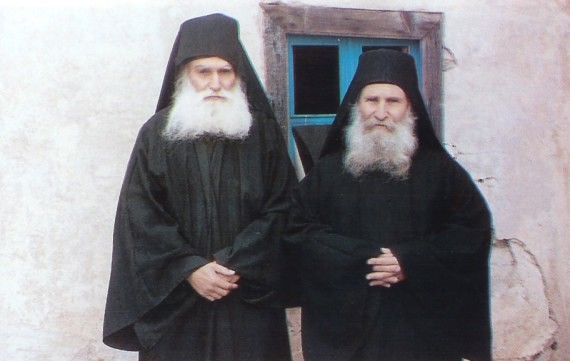 Abbot Ephraim together with Elder Joseph, the spiritual father of the Vatopedi Monastery