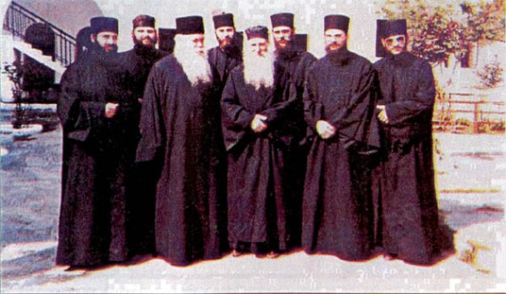 Together with Abbot Alexey and the fathers of the Xenofont Monastery, Mount Athos
