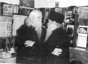 Fr. Cleopa meeting his old co-struggler in desert, now-Archimandrite Arsenie Papacioc (33)