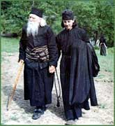 Fr. Cleopa with his cell-disciple, Fr. Iachint (34)