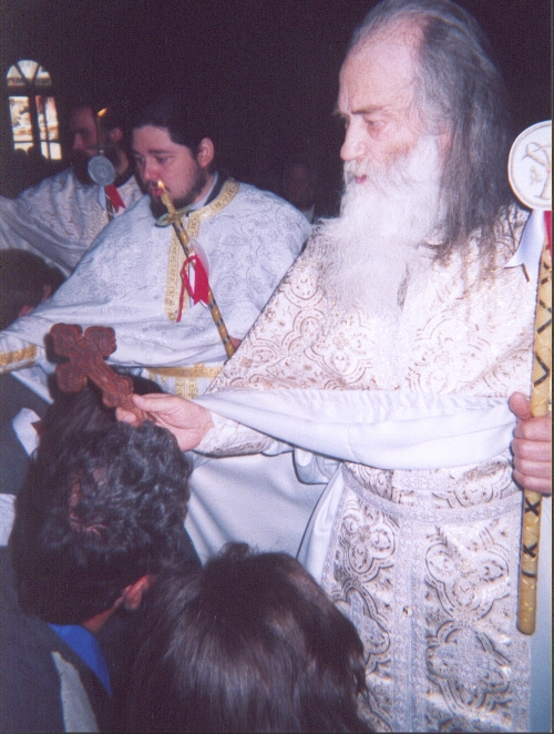 Fr. Iustin during Great Entrance - Divine Liturgy (5)