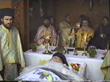 A funeral service for monk Nicolae - 2nd of April, 1989