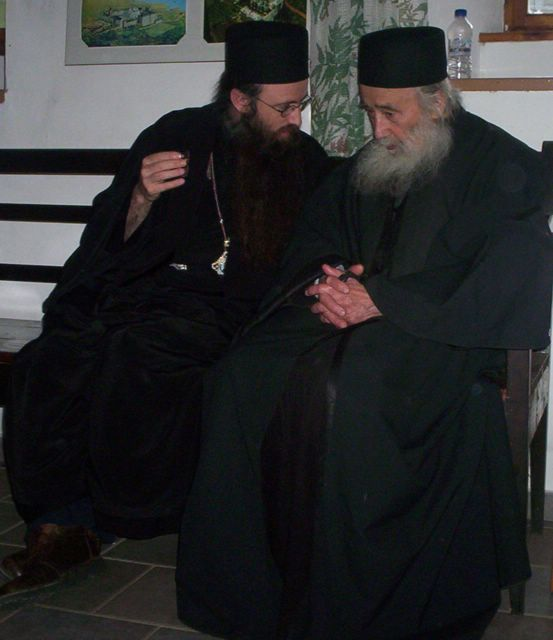 Bishop Siluan and Fr. Petroniu
