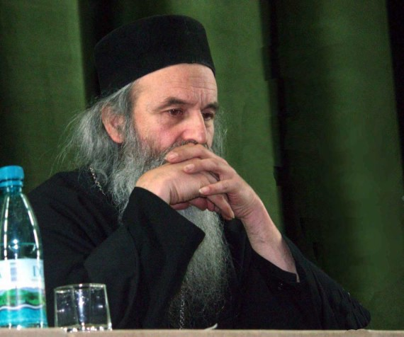 Fr. Rafail Noica talking at orthodox conference in Bucharest - November 2002 (3)