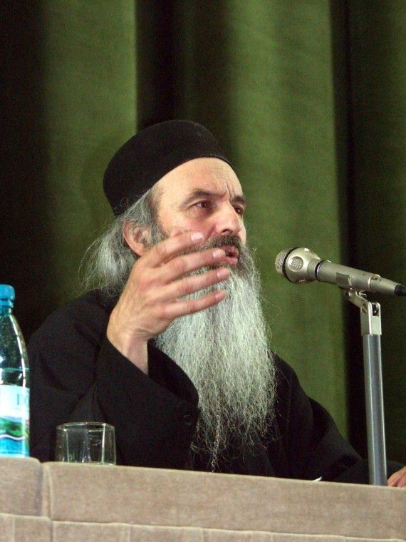 Fr. Rafail Noica talking at orthodox conference in Bucharest - November 2002 (4)